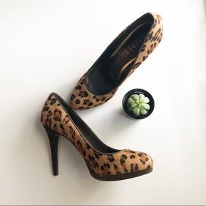 Ralph Lauren Cheetah Print Calf Hair Pumps 8B